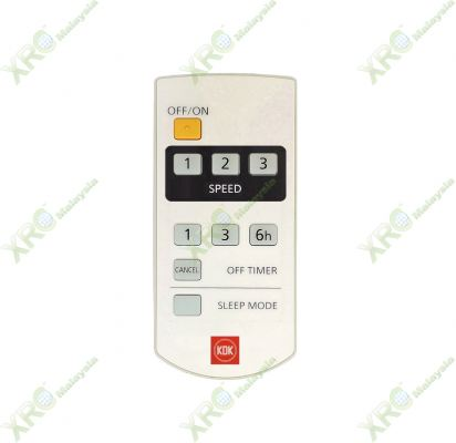 K14X5 KDK CEILING FAN REMOTE CONTROL