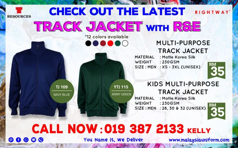 Check Out  the Latest Track Jacket With R&E #malaysiauniform
