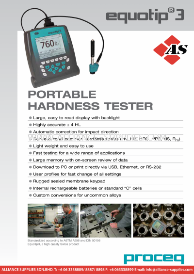 PROCEQ Equotip 3-Portable Hardness Tester (OBSOLETE)