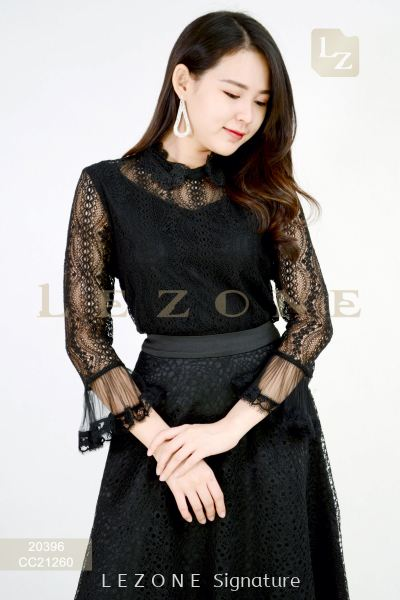 20396 BENNYPHIL LACE OVERLAY BLOUSE