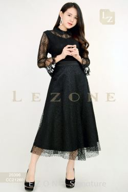 CC21260 BENNYPHIL LACE OVERLAY MIDI SKIRT 【1ST 10% 2ND 15% 3RD 20%】