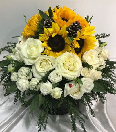 Sunflower & Roses Box (BF-945)