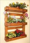 Rustic Flower Bed Flower Pot Stand
