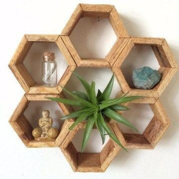 Multi Hexagonal  Wall Shelf
