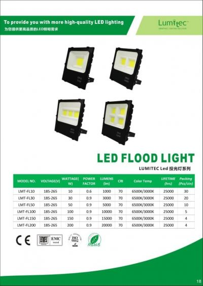 LUMITEC LED FLOODLIGHT 10W 30W 50W 100W 150W 200W