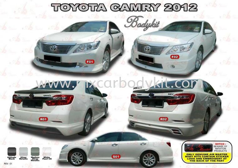 TOYOTA CAMRY 2012 AM STYLE BODYKIT + SPOILER CAMRY 2012 TOYOTA