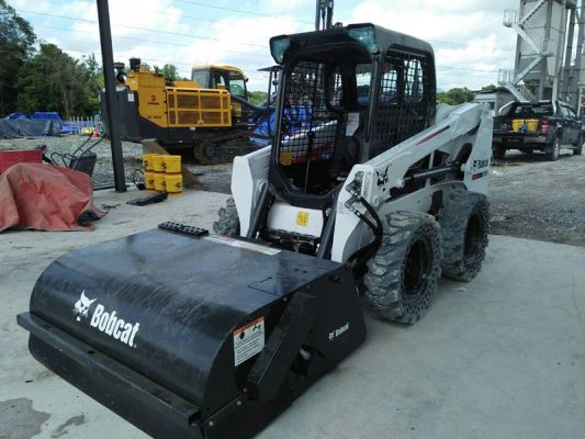 Bobcat Sweeper with Machine