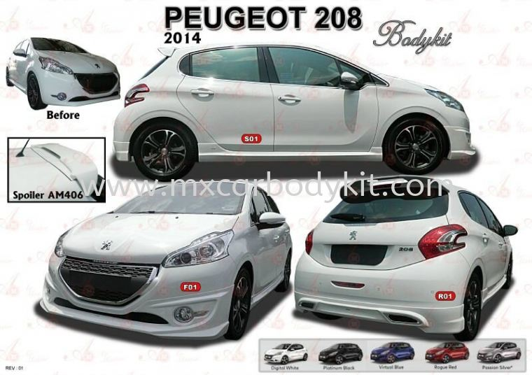 PEUGEOT 208 AM STYLE BODYKIT + SPOILER 208 PEUGEOUT