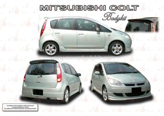 MITSUBISHI COLT AM STYLE BODYKIT + SPOILER