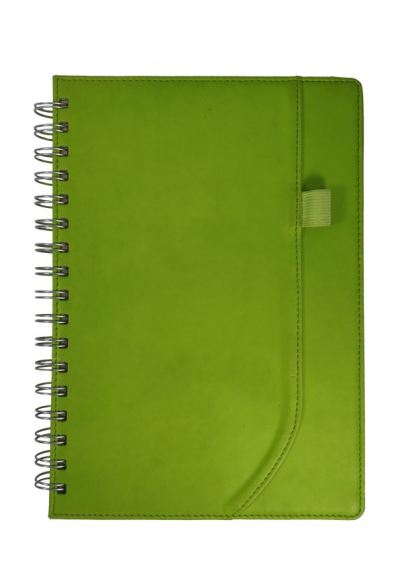 (PU LEATHER)WIRE-O Notebook (NB-011)