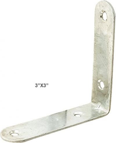 "3"" X 3"" CHROME L BRACKET [1 PK= 4 PCS] - 00553F"