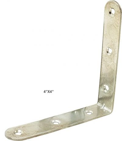 "4"" X 4"" CHROME L BRACKET [1 PK= 4 PCS] - 00553G"