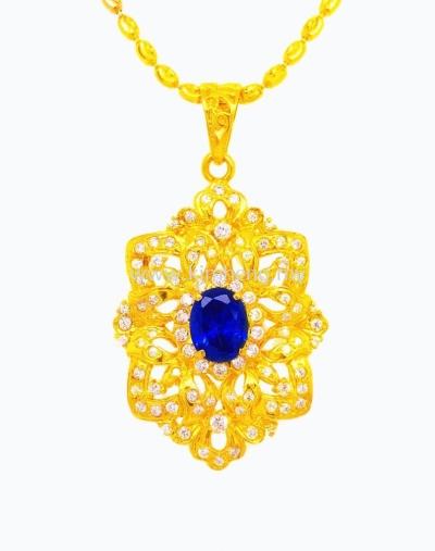 Blue Crystal Royal Flower