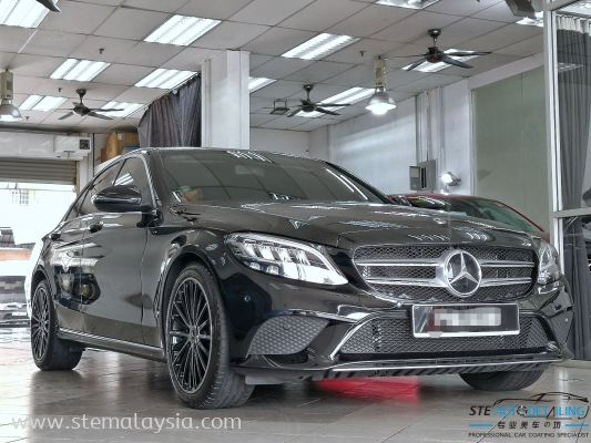 Black series of Mercedez Benz C200 Under Protect By STE Coating .