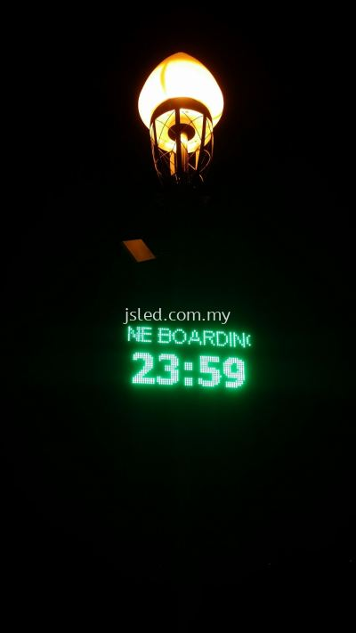 LED Display Green - Time