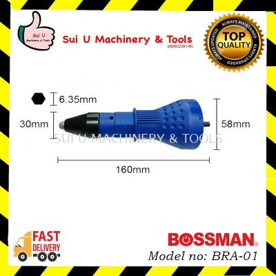 BOSSMAN BRA-01 Rivet Adaptor with 2 pcs Wrench