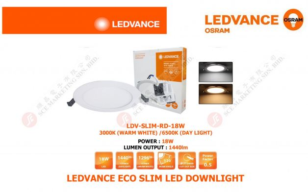 LEDVANCE ECO SLIM LED DOWNLIGHT 18W LDV-SLIM-RD-18W