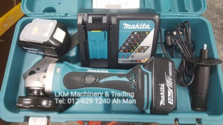 Makita 18v 3.0Ah 115mm Cordless Angle Grinder DGA452RFE