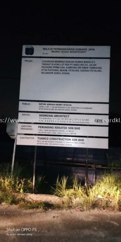 construction project signboard at puchong Kuala Lumpur