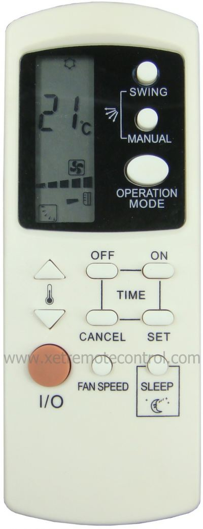 MAC10ING MISTRAL AIR CONDITIONING REMOTE CONTROL