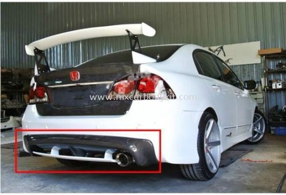 HONDA CIVIC FD MUGEN REAR DIFFUSER