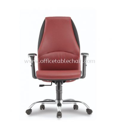 ZINNIA EXECUTIVE MEDIUM BACK CHAIR C/W CHROME METAL BASE