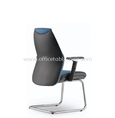 ZINNIA EXECUTIVE VISITOR LEATHER CHAIR C/W CHROME CANTILEVER BASE