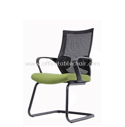 EUSTOMA 1 VISITOR MESH BACK CHAIR C/W EPOXY BLACK CANTILEVER BASE