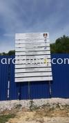 Construction Signboard Project signage at subang jaya Kuala Lumpur Papan Tanda Konstruksi