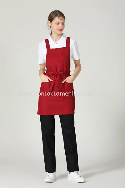 Maroon Red Service Apron