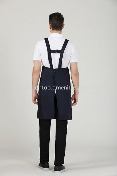 Navy Blue Service Apron (Back)