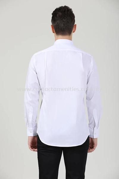 Service Shirt - L/Sleeves White (Unisex-Back)