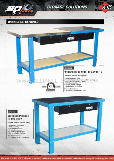 SP Workshop Benches / Tool/Service/Technicians Trolleys