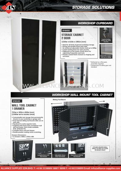 SP Cabinets / Wall Mount Tool Cabinets
