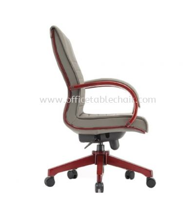 MAXIMO II (B) DIRECTOR MEDIUM BACK CHAIR C/W WOODEN ROCKET BASE