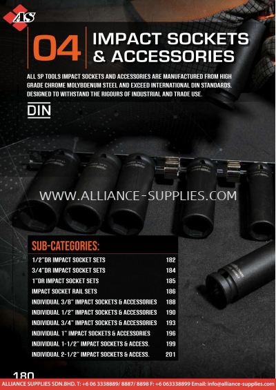 2.04 SP Tools Impact Sockets and Accessories