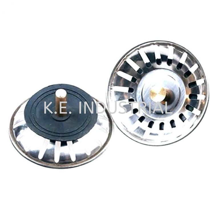 Stainless Steel Sink Drain Mesh Stopper Basket Strainer Filter Waste Plug