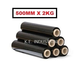 Stretch Film Black 500MM x 2KG