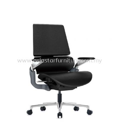 CARNATION 2 DIRECTOR MEDIUM BACK CHAIR C/W ALUMINIUM DIE-CAST BASE
