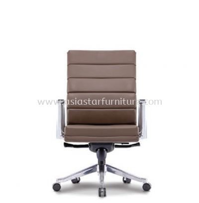 DIANTHUS DIRECTOR LOW BACK CHAIR C/W ALUMINIUM DIE-CAST BASE