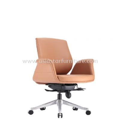 ZENOBIA DIRECTOR LOW BACK CHAIR C/W ALUMINIUM DIE-CAST BASE