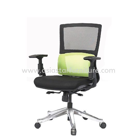 CLEMATIS 2 MEDIUM BACK MESH CHAIR C/W ALUMINIUM ROCKET DIE-CAST BASE