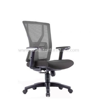 STATICE 2 MEDIUM BACK MESH CHAIR ADJUSTABLE ARMREST C/W POLYPROPYLENE BASE