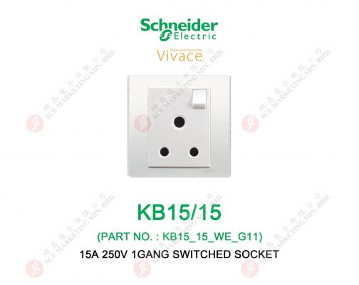 SCHNEIDER VIVACE KB15/15 SWITCHED SOCKET