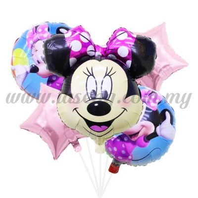 Foil Balloon Set (Mini Mouse) - 5in1 (FB-MC-T024)