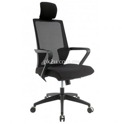 PK-BCMC-12-H-C1-Angle High Back Mesh Chair with Nylon Base