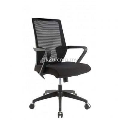 PK-BCMC-12-M-C1-Angle High Back Mesh Chair with Nylon Base