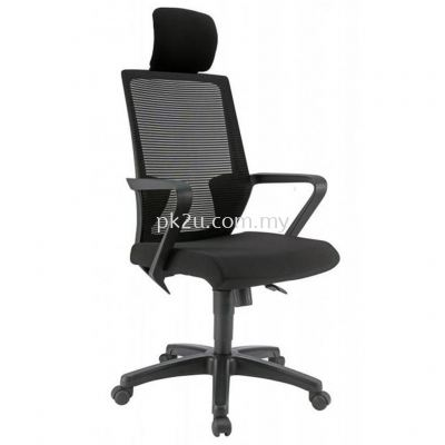 PK-BCMC-12-H-C1-Angle High Back Mesh Chair with PP Base