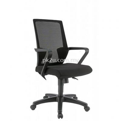 PK-BCMC-12-M-C1-Angle Medium Back Mesh Chair with PP Base