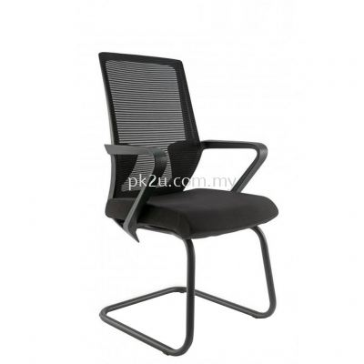ANGLE - Visitor Mesh Chair with Black Cantilever & Armrest (C1-BCMC-12-V)
